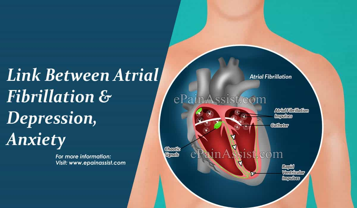 Link Between Atrial Fibrillation & Depression, Anxiety