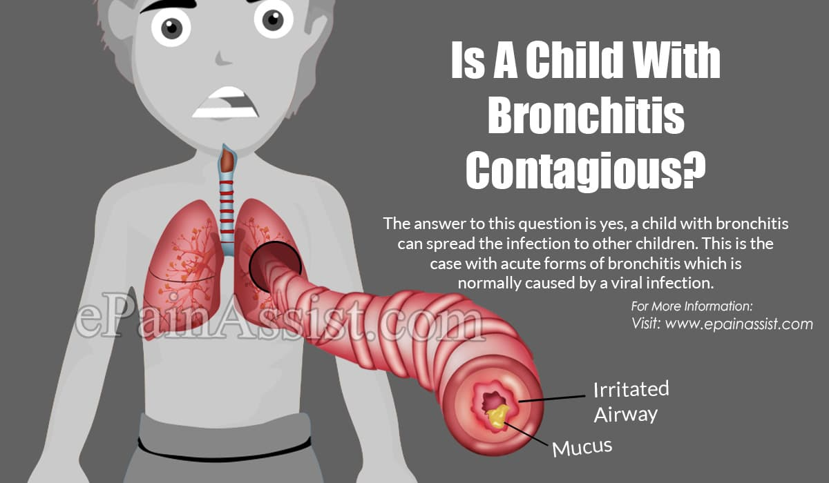 Is A Child With Bronchitis Contagious?