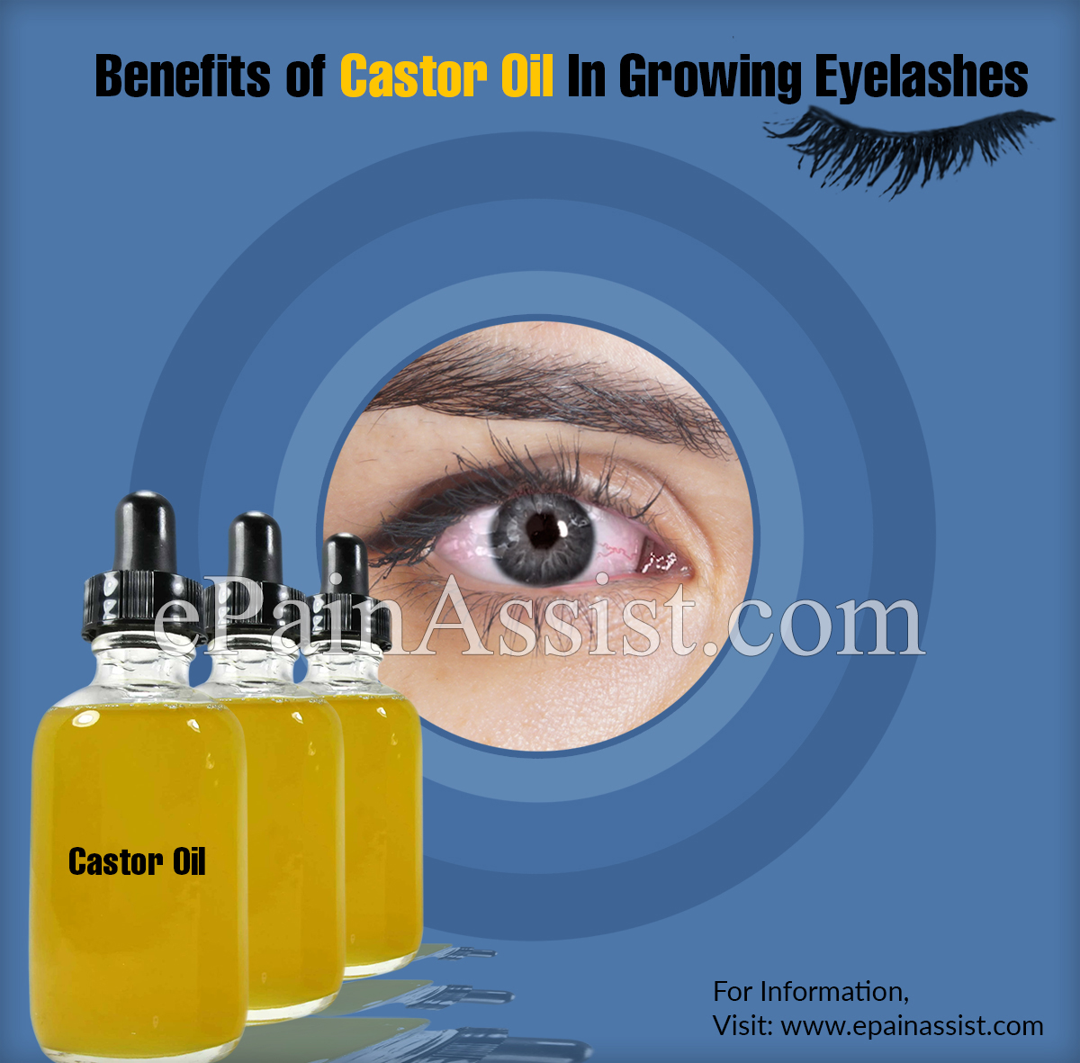 Benefits of Castor Oil In Growing Eyelashes & Ways to Apply