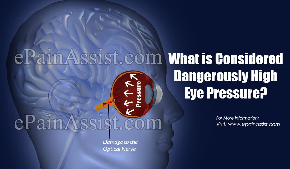 What is Considered Dangerously High Eye Pressure?