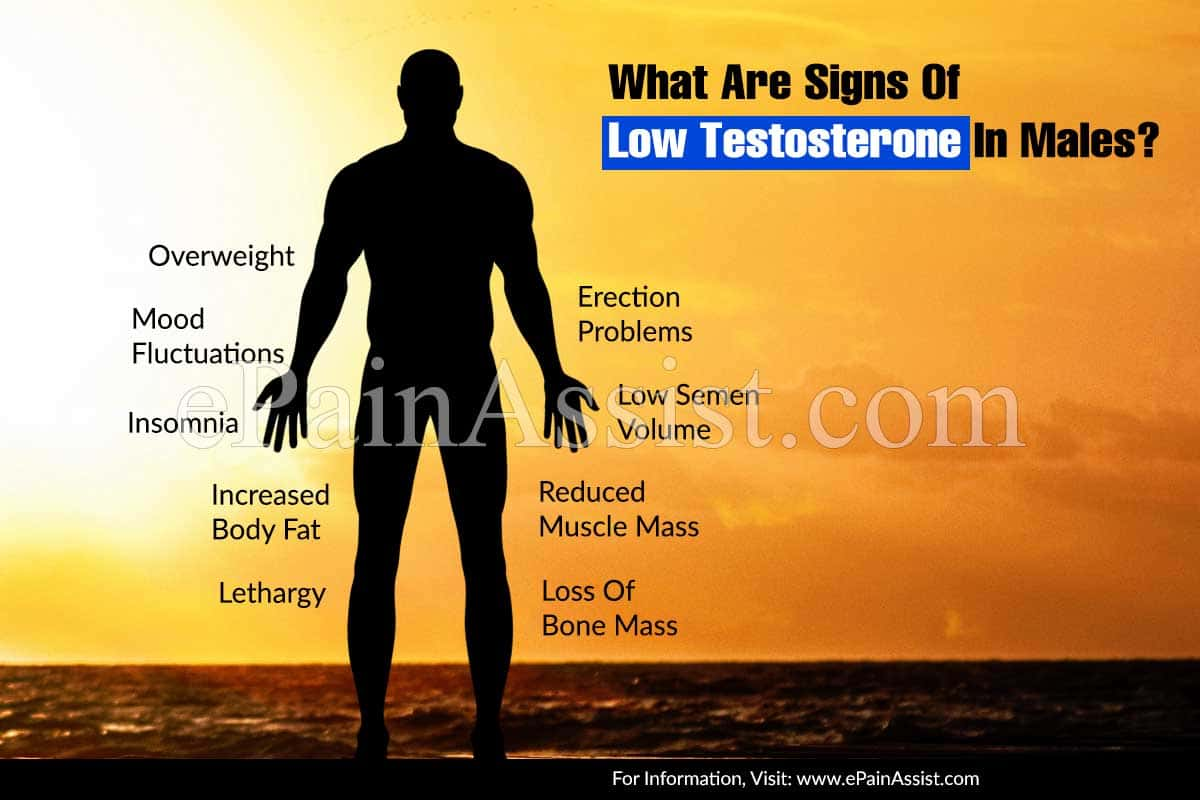 What Are Signs Of Low Testosterone In Males?