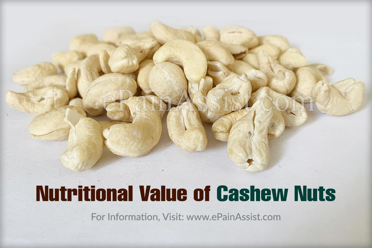 Nutritional Value of Cashew Nuts