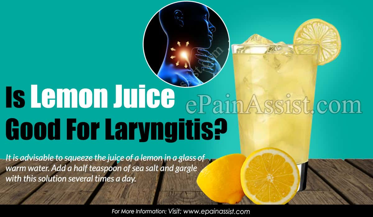 Is Lemon Juice Good For Laryngitis?