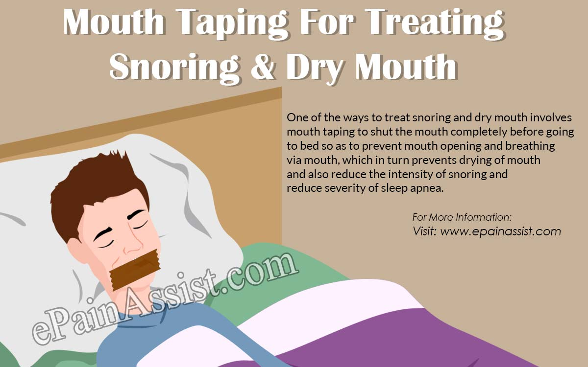 Mouth Taping For Treating Snoring & Dry Mouth