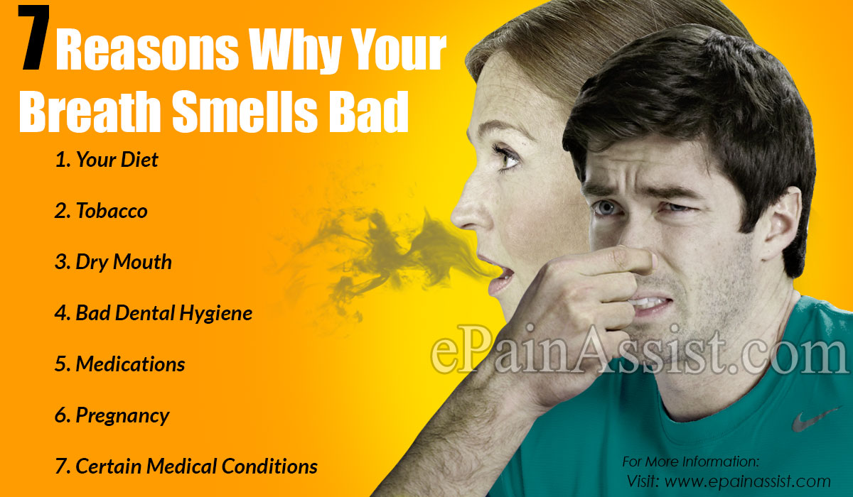 7 Reasons Why Your Breath Smells Bad