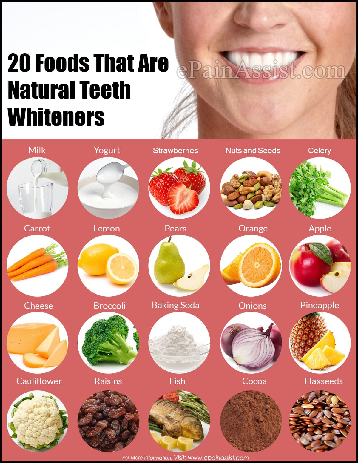 20 Foods That Are Natural Teeth Whiteners