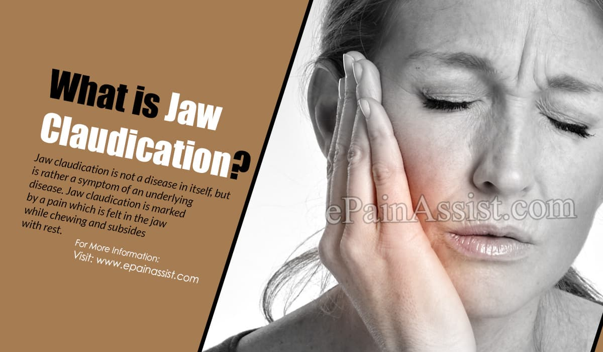 What is Jaw Claudication?