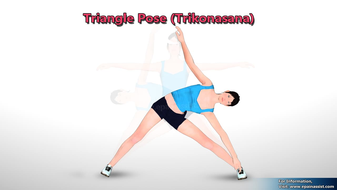 Trikonasana or Triangle Pose for Healthy Lungs