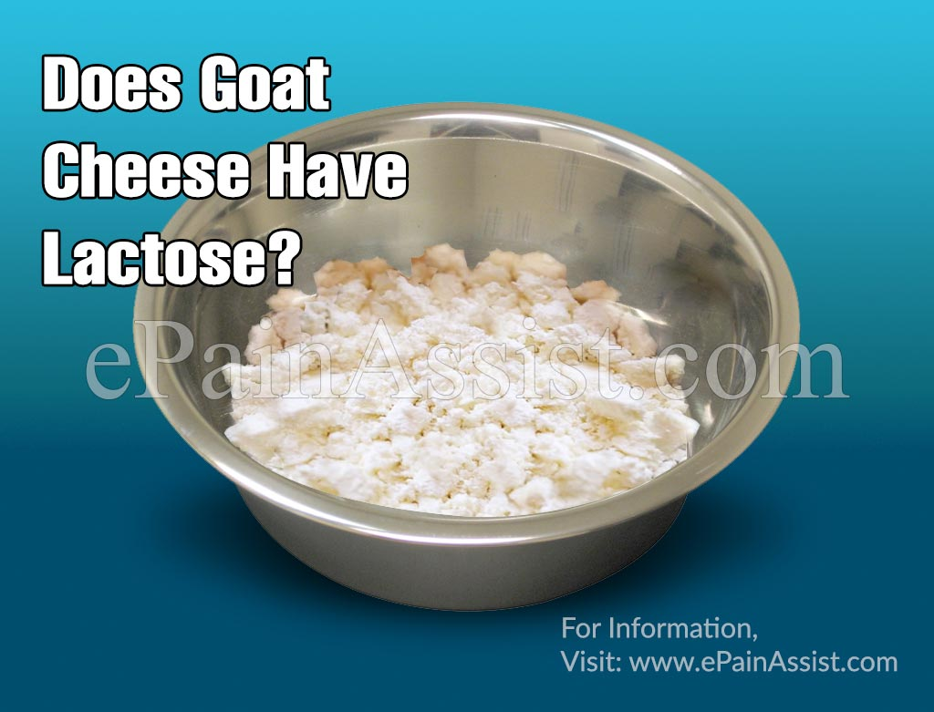 Does Goat Cheese Have Lactose?
