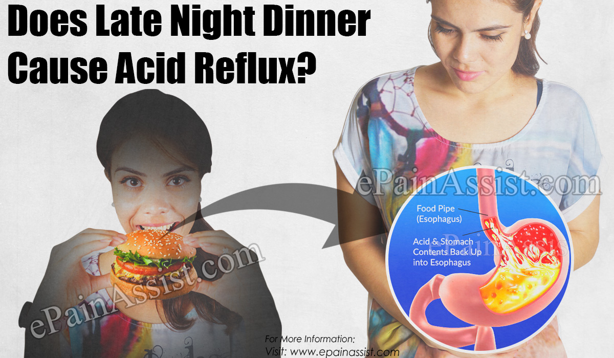 Does Late Night Dinner cause Acid Reflux?