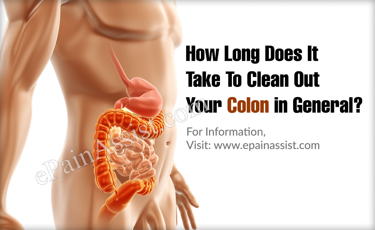 How Long Does It Take To Clean Out Your Colon in General?