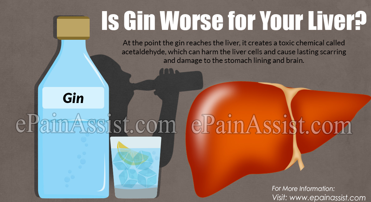 Is Gin Worse for Your Liver?