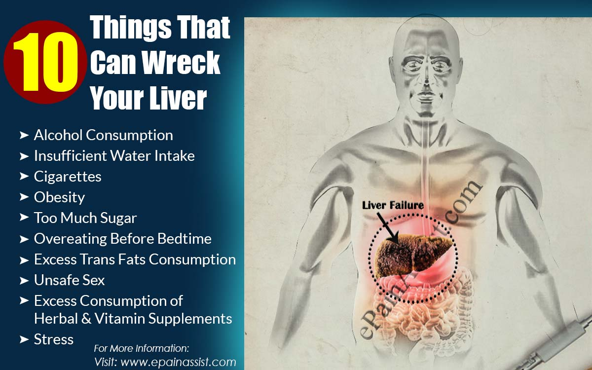 10 Things That Can Wreck Your Liver