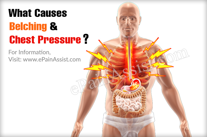 What Causes Belching & Chest Pressure?
