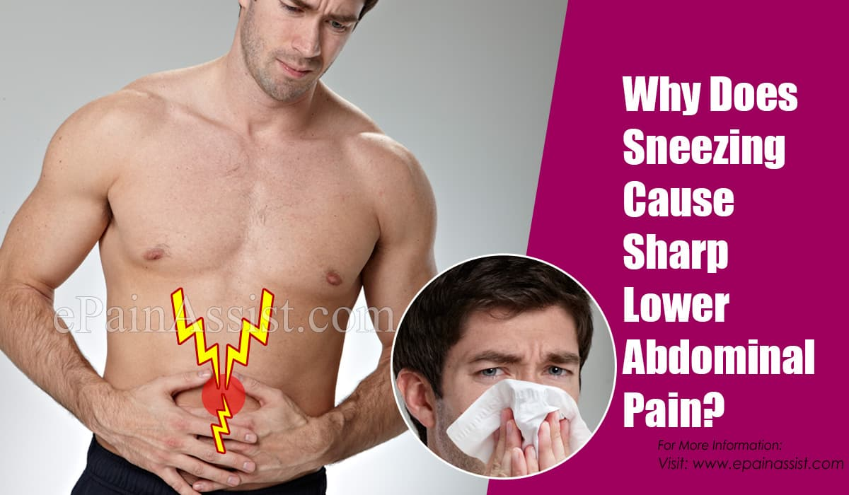 Why Does Sneezing Cause Sharp Lower Abdominal Pain?