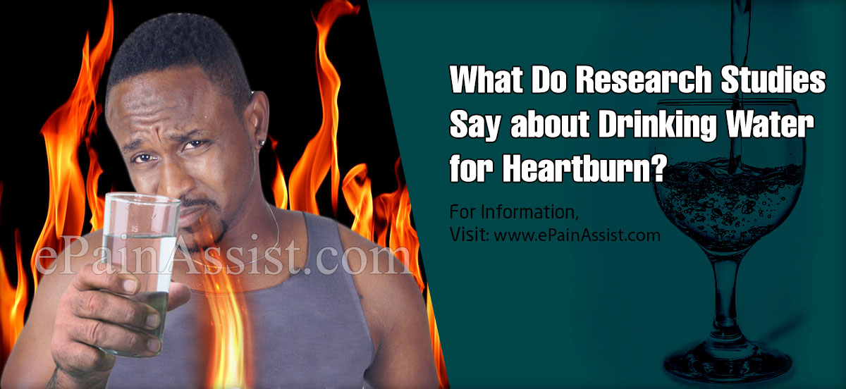 What Do Research Studies Say about Drinking Water for Heartburn?