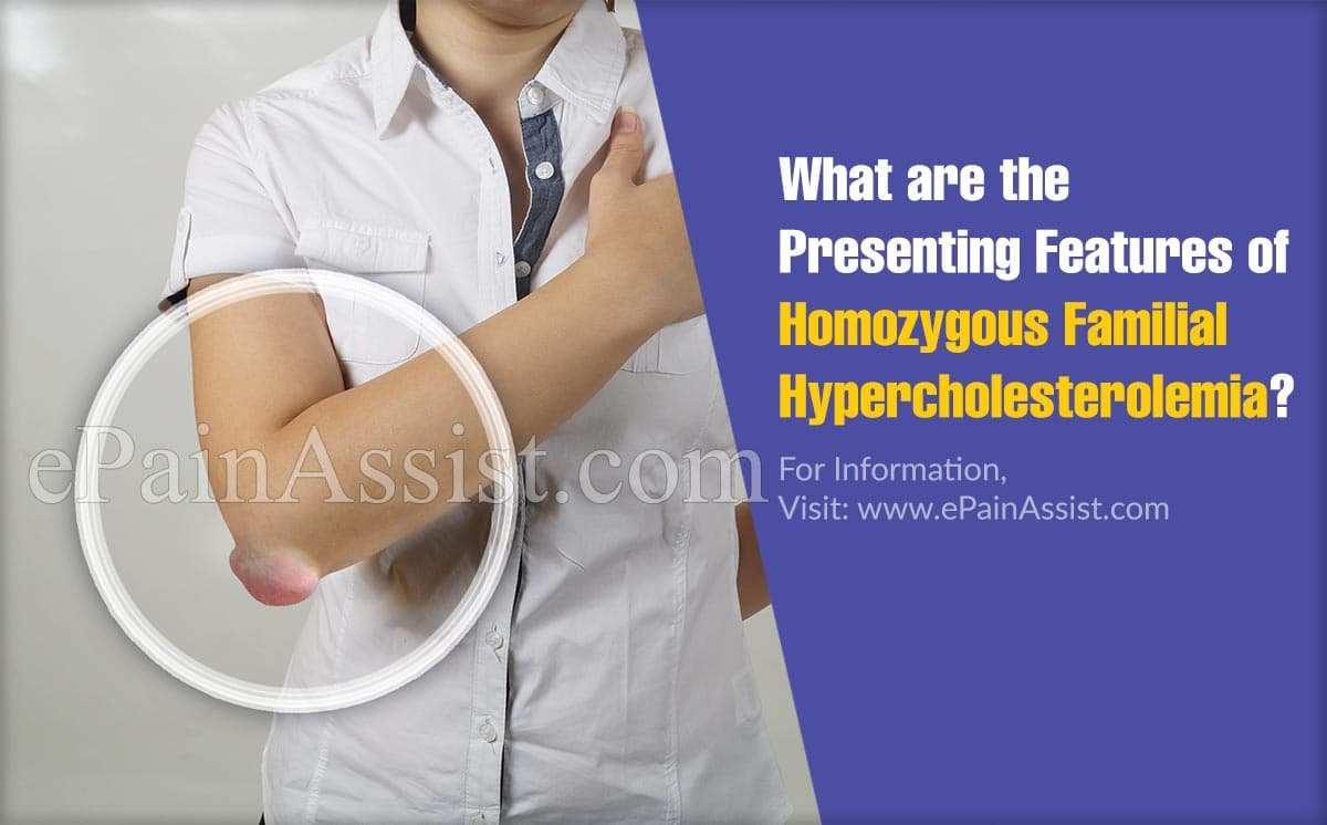 What are the Presenting Features of Homozygous Familial Hypercholesterolemia?