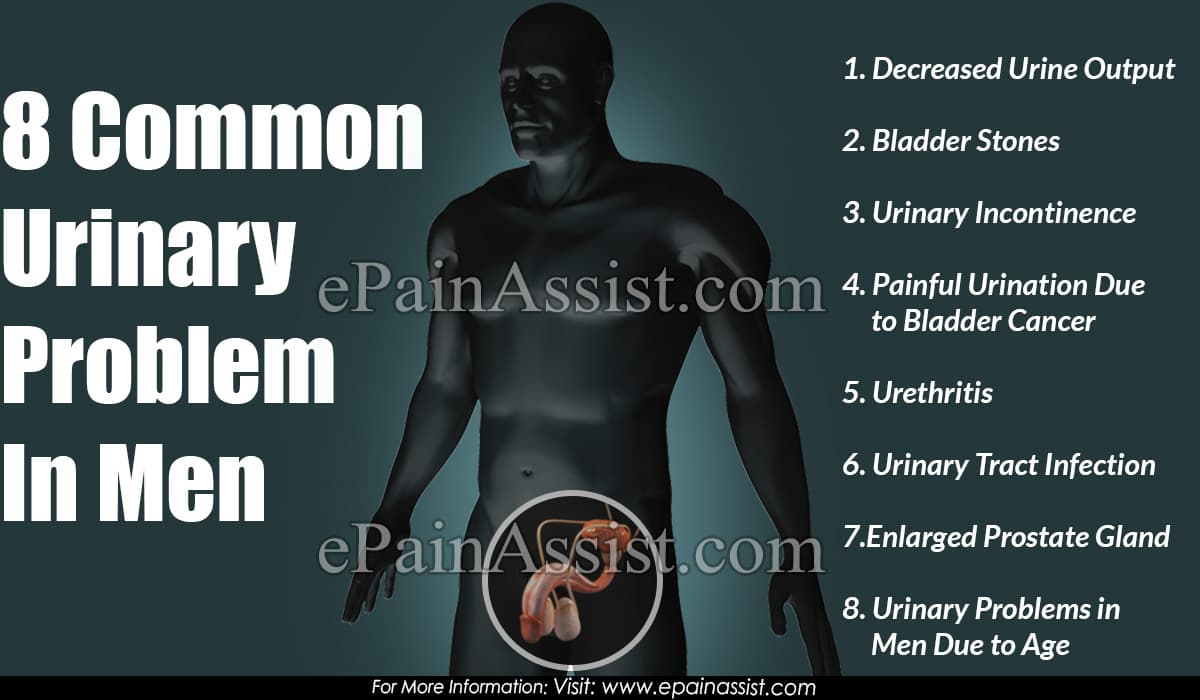 8 Common Urinary Problem In Men