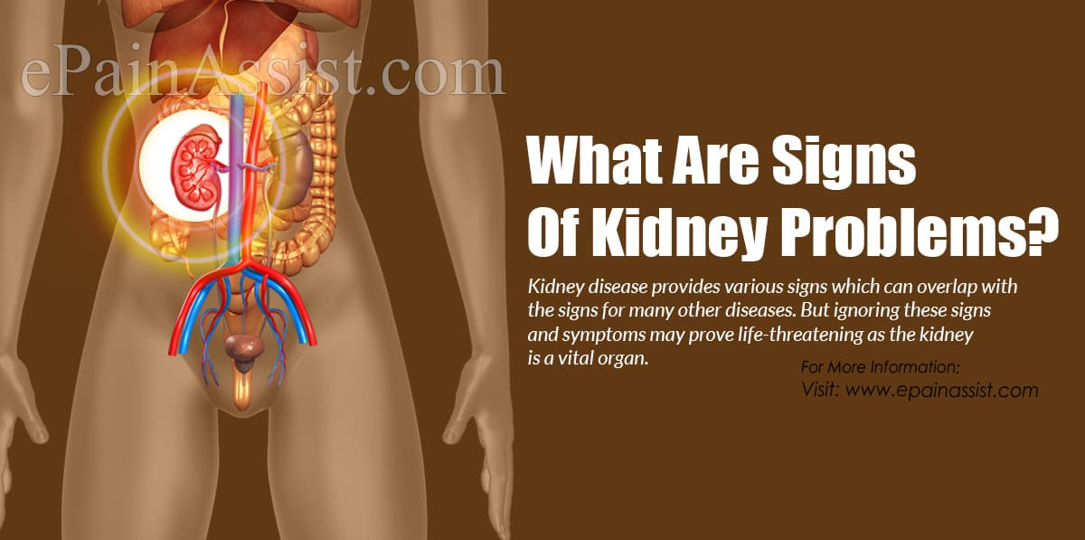What Are Signs of Kidney Problems?