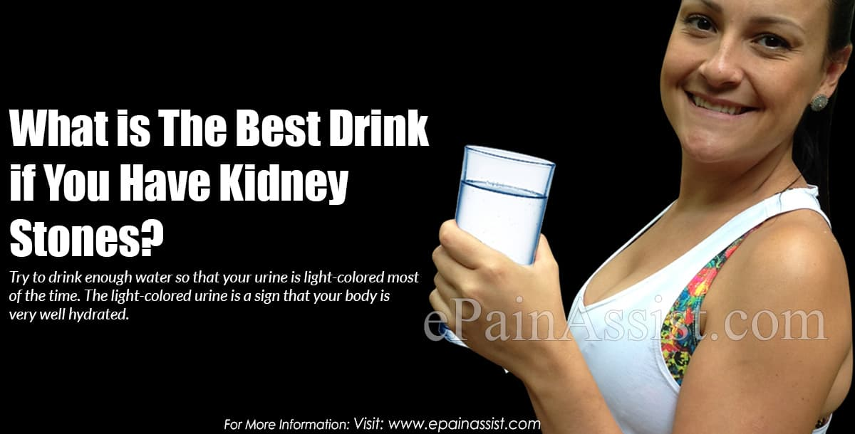What is The Best Drink if You Have Kidney Stones?