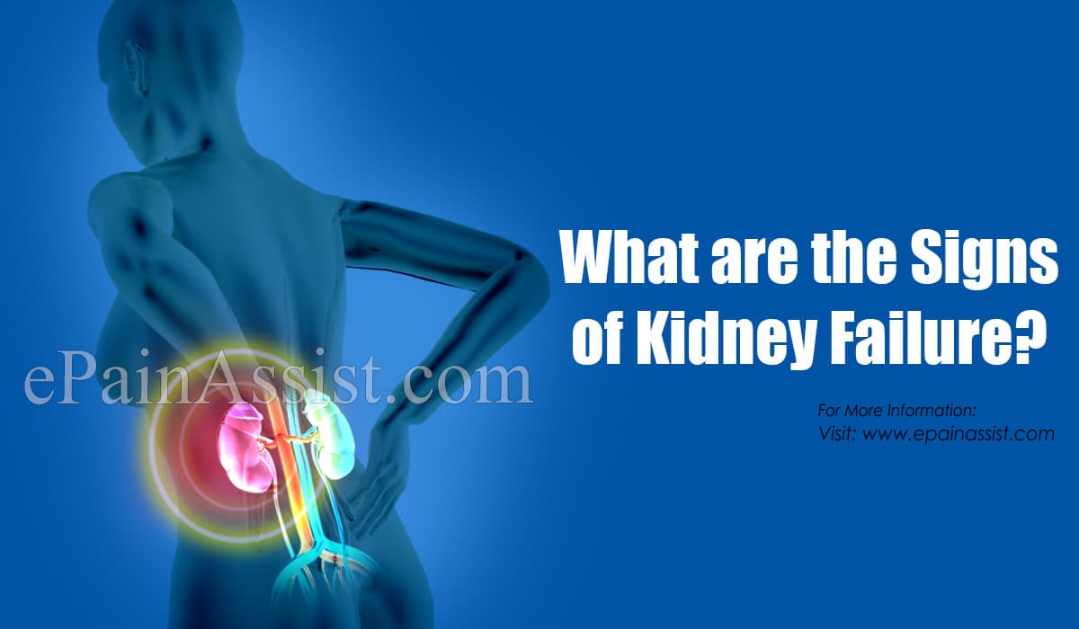 What are the Signs of Kidney Failure?
