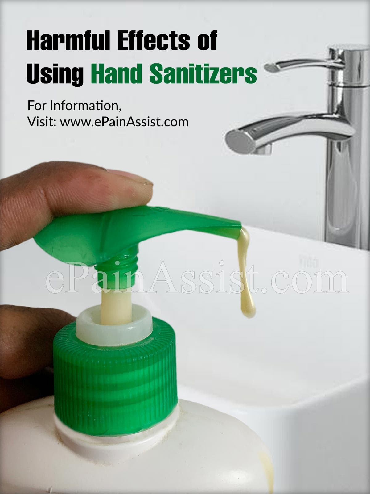 Harmful Effects of Using Hand Sanitizers