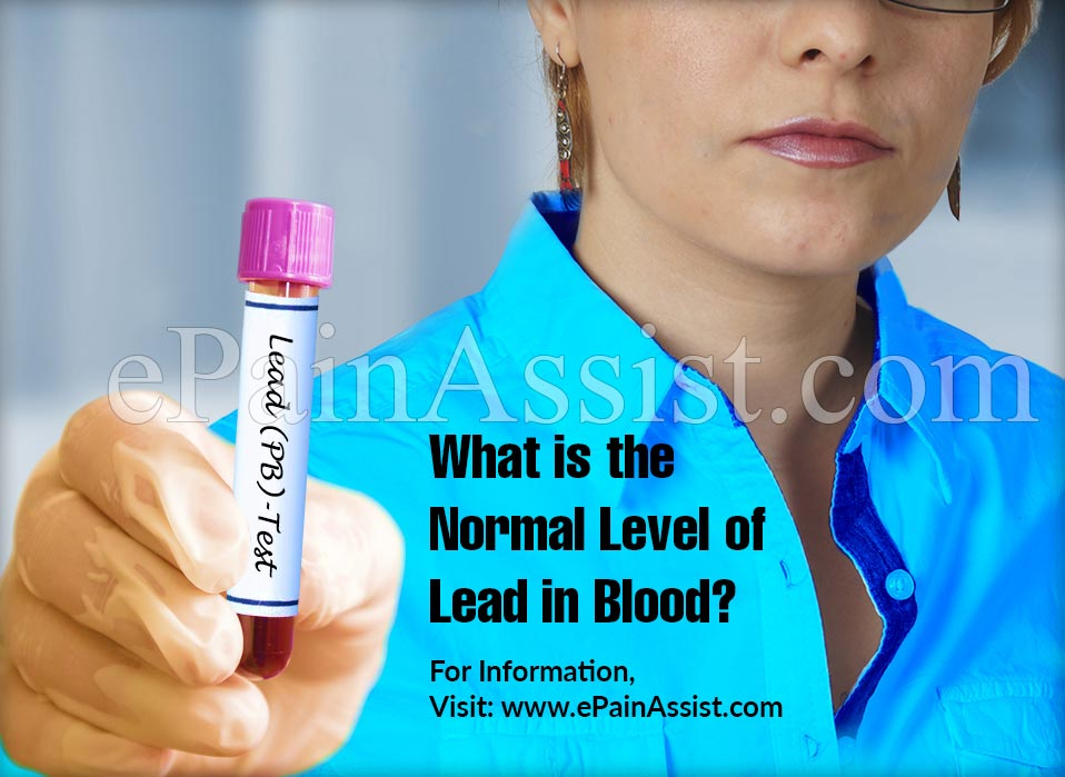 What Is The Normal Level Of Lead In Blood?