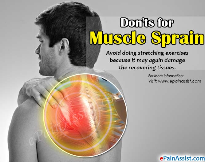Don'ts for Muscle Sprain