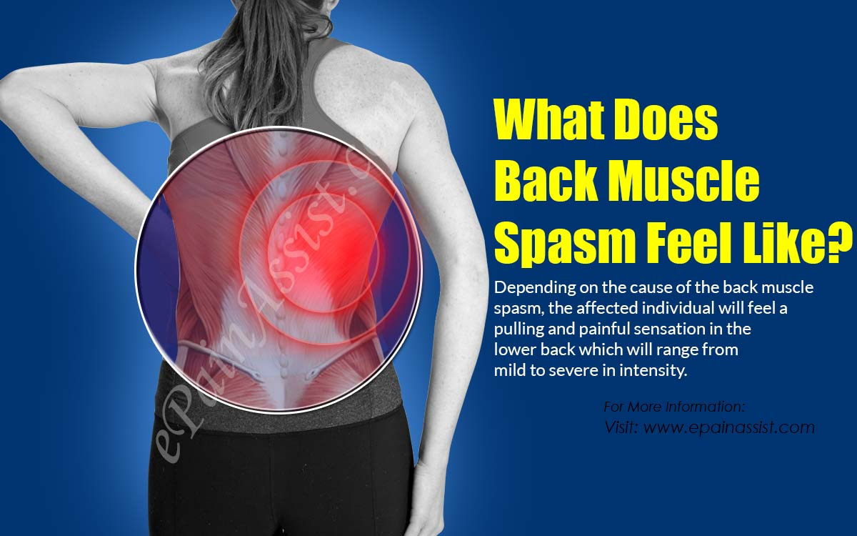 What Does Back Muscle Spasm Feel Like?