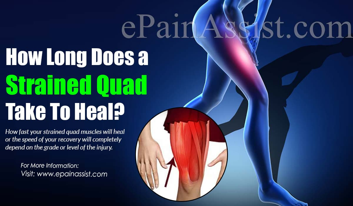How Long Does a Strained Quad Take To Heal?