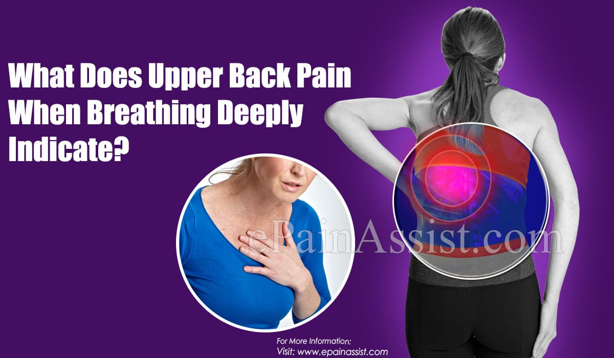 What Does Upper Back Pain When Breathing Deeply Indicate?