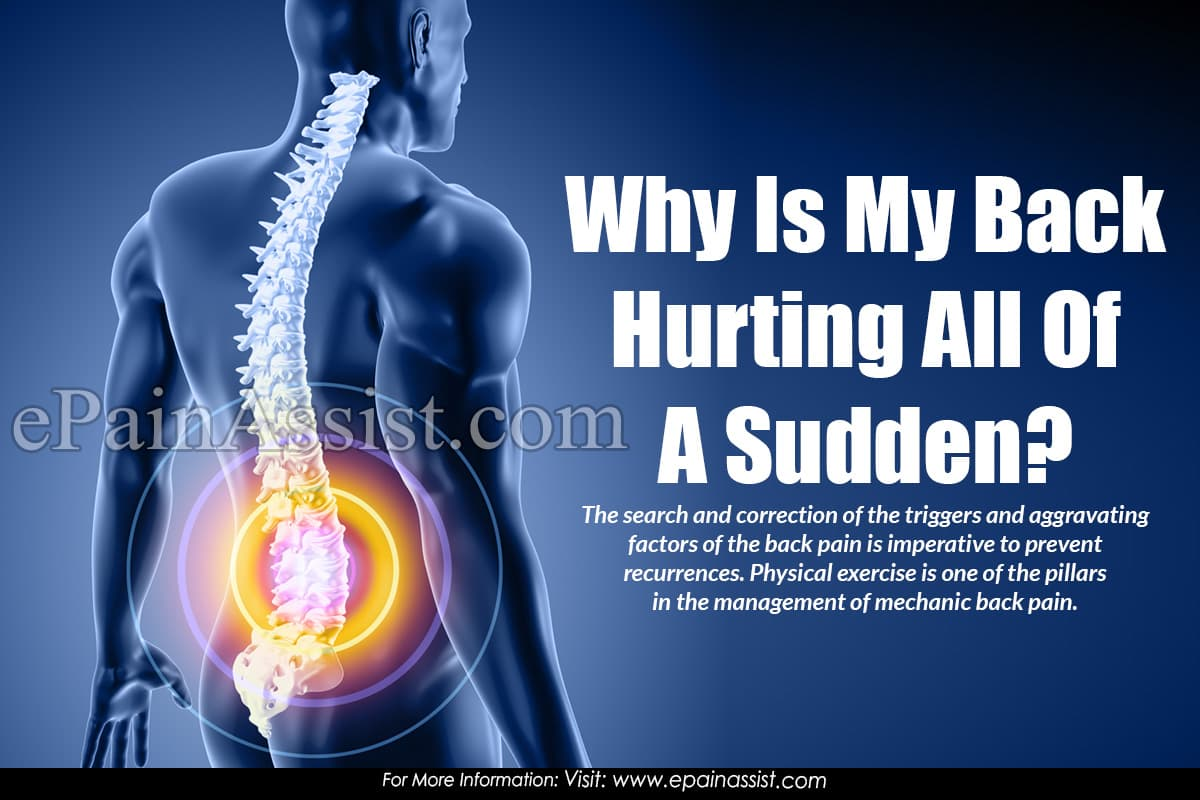 Why Is My Back Hurting All Of A Sudden?