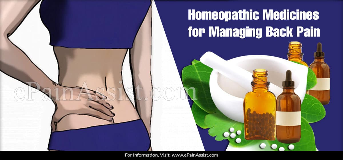 Homeopathic Medicines for Managing Back Pain
