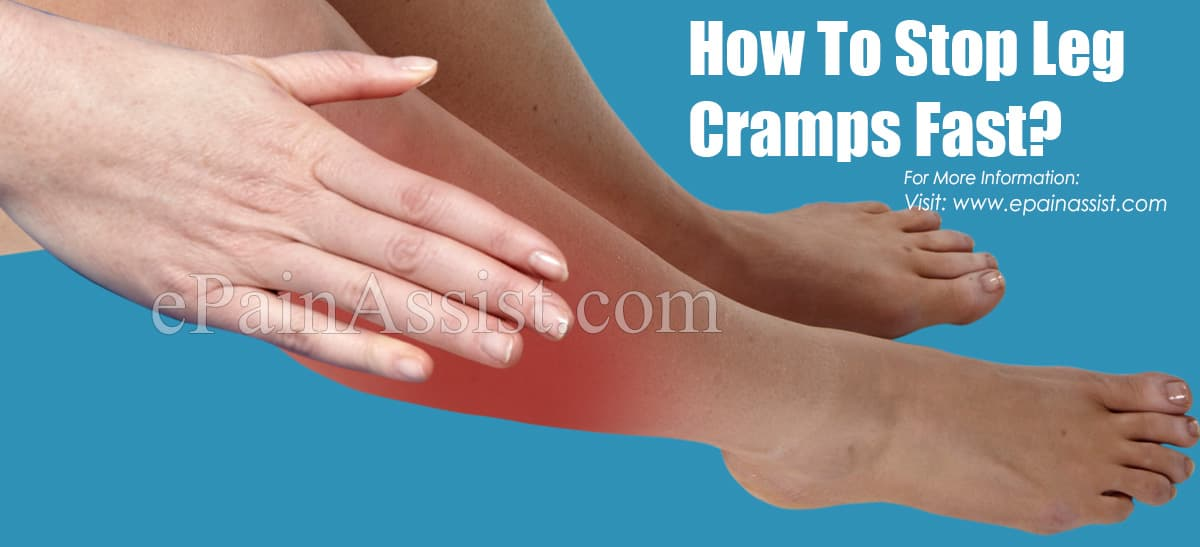 How To Stop Leg Cramps Fast?