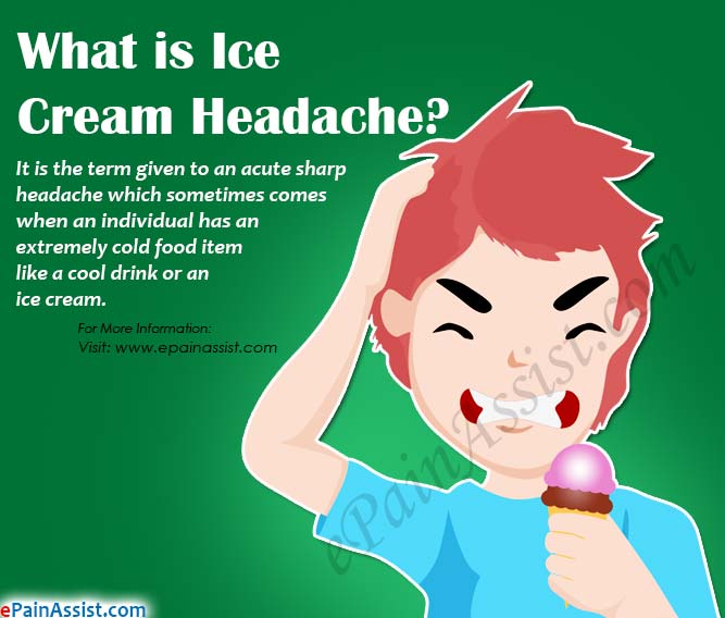 What are the Causes of Ice Cream Headache?
