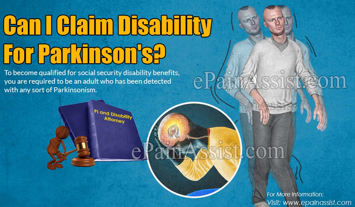 Can I Claim Disability For Parkinson's?