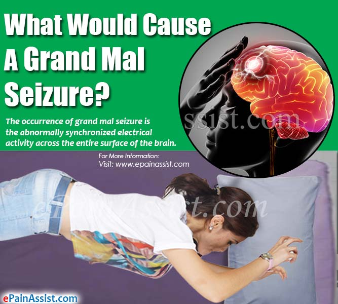 Cause of grand mal seizure in adults