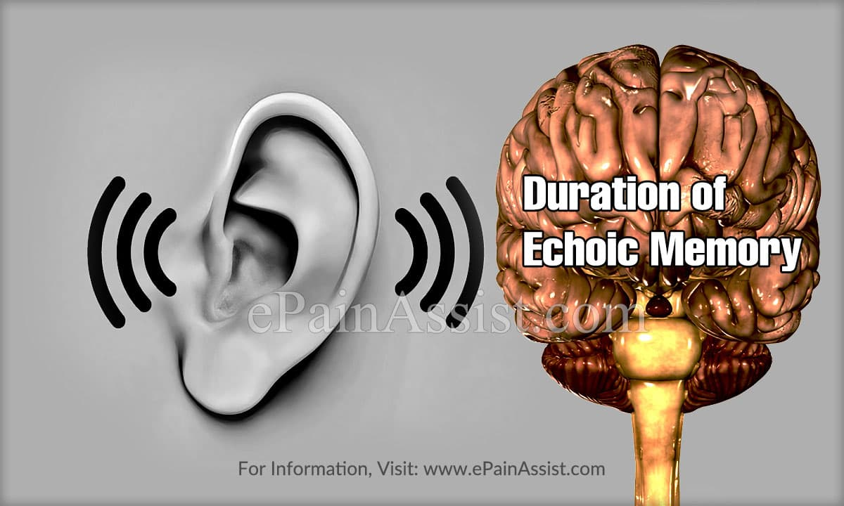 Duration of Echoic Memory