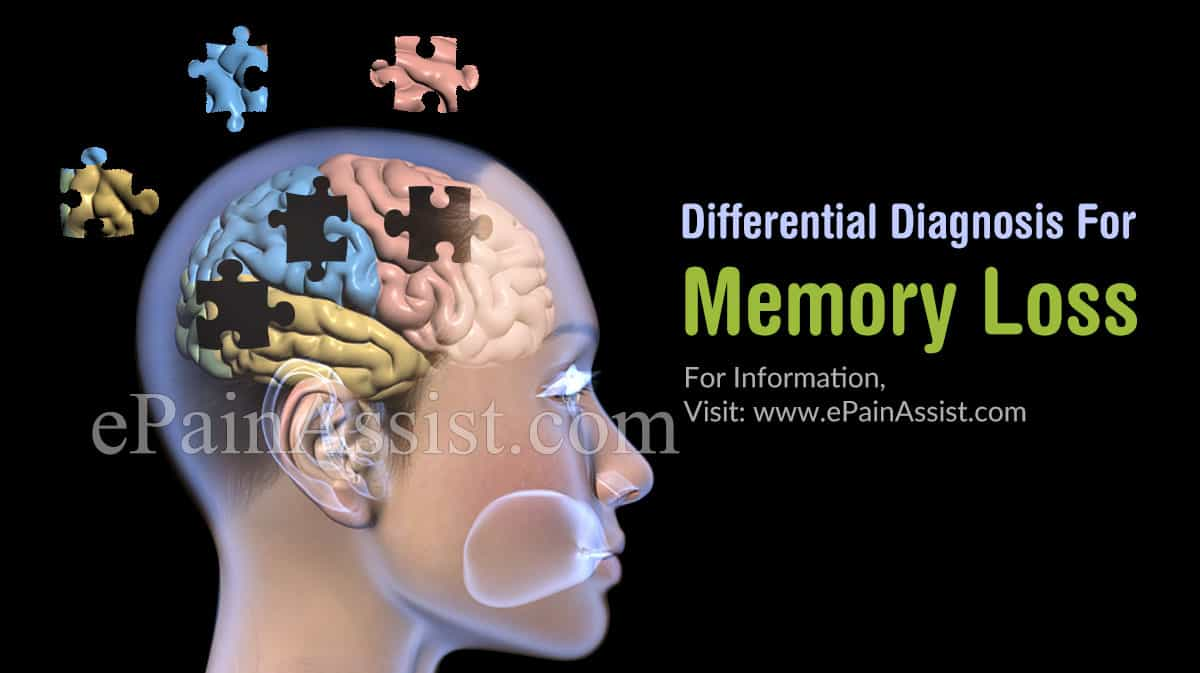 Differential Diagnosis For Memory Loss