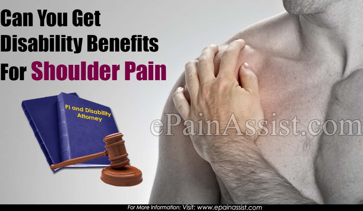 Can You Get Disability Benefits For Shoulder Pain