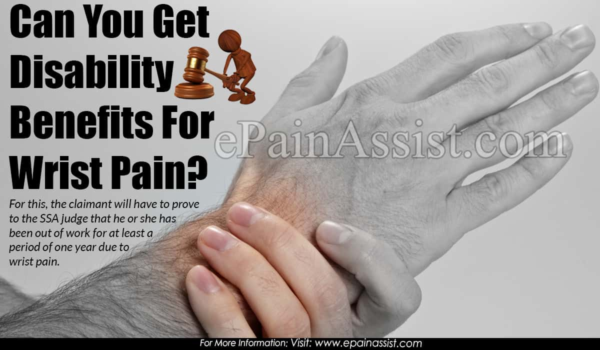 Can You Get Disability Benefits For Wrist Pain?