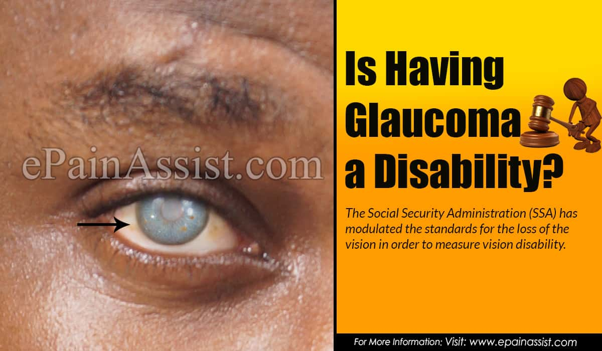 Is Having Glaucoma a Disability?