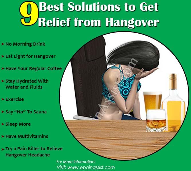 9 Best Solutions to Get Relief from Hangover
