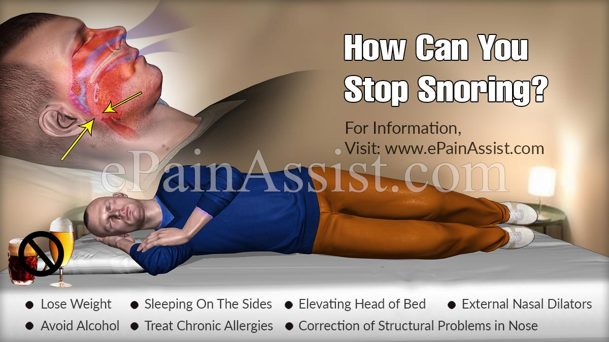 How Can You Stop Snoring?