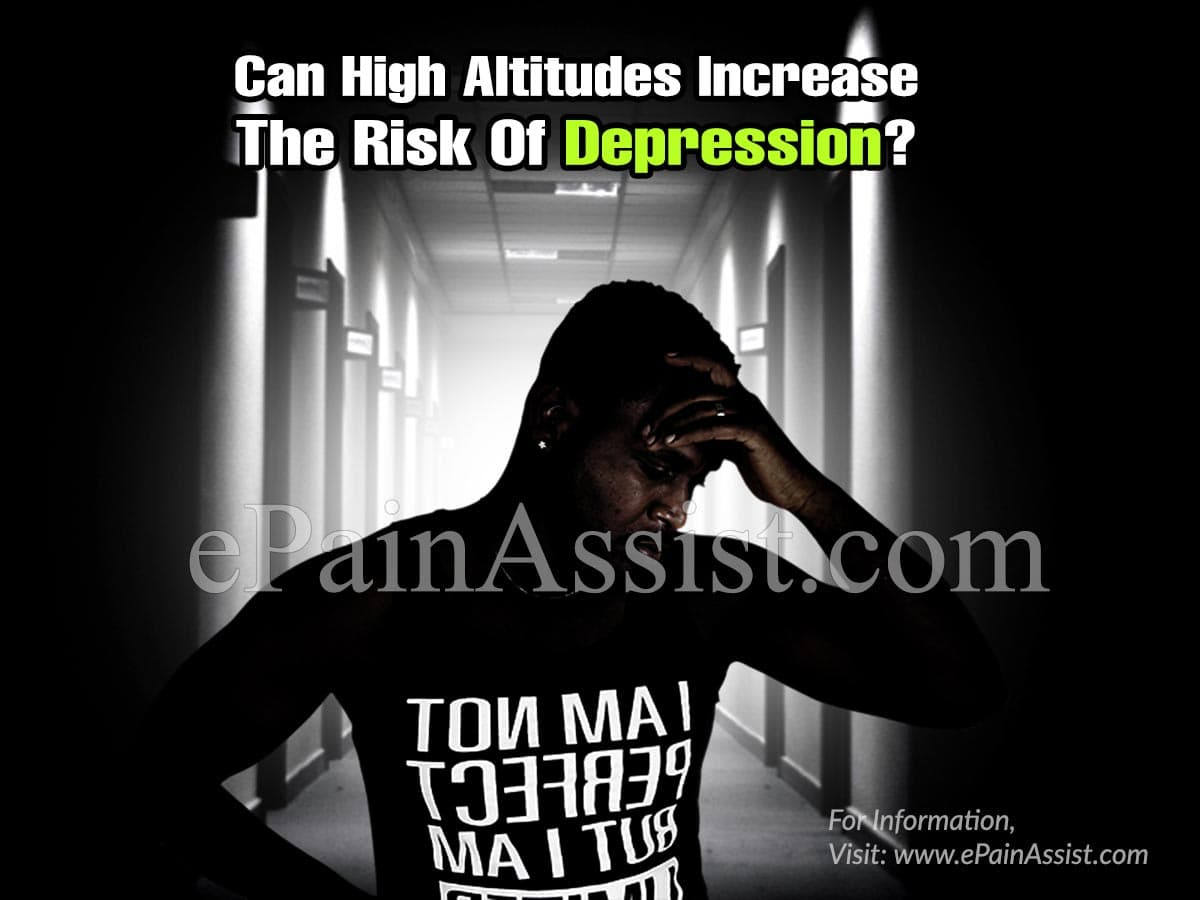 Can High Altitudes Increase The Risk Of Depression?