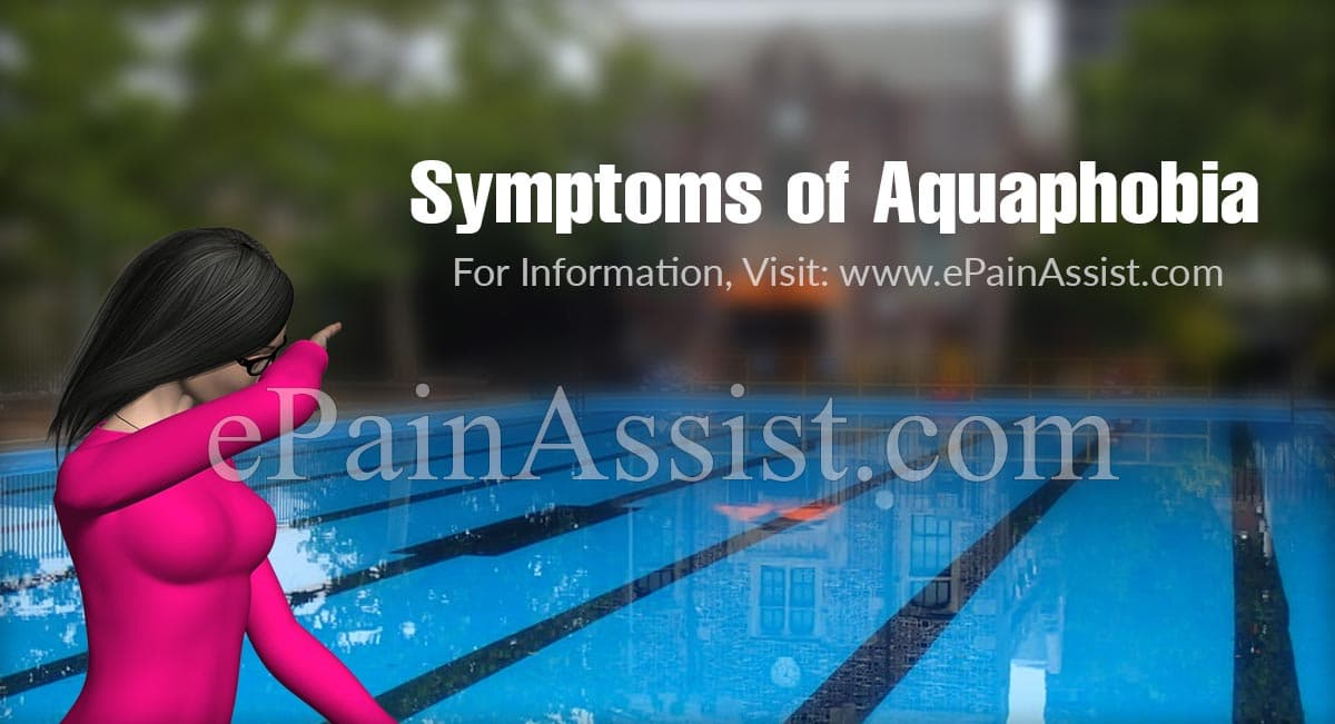 Symptoms of Aquaphobia