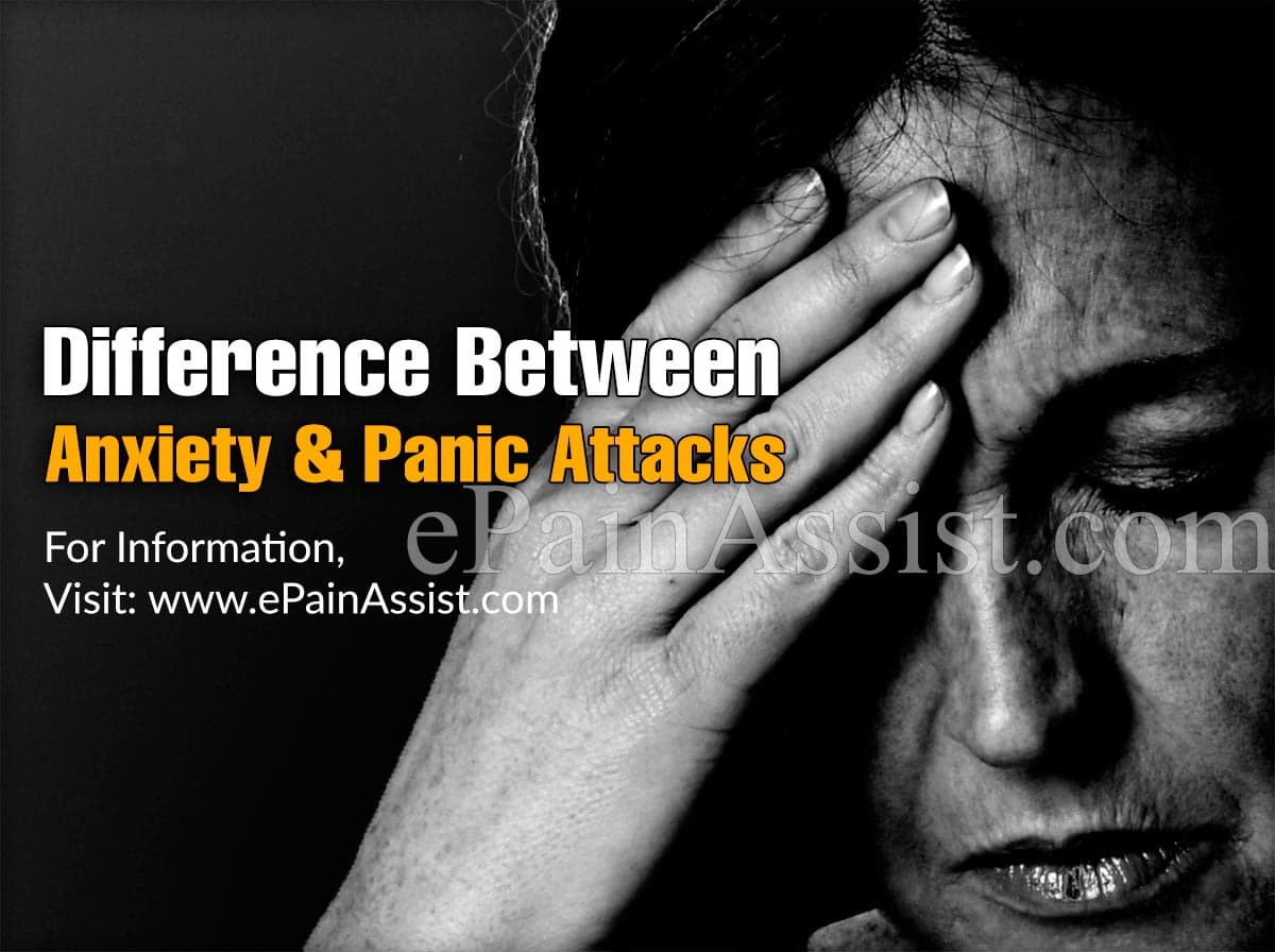 Difference Between Anxiety and Panic Attacks