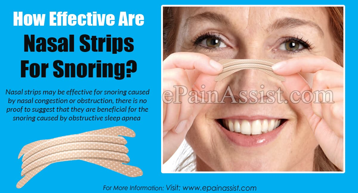 How Effective Are Nasal Strips For Snoring?