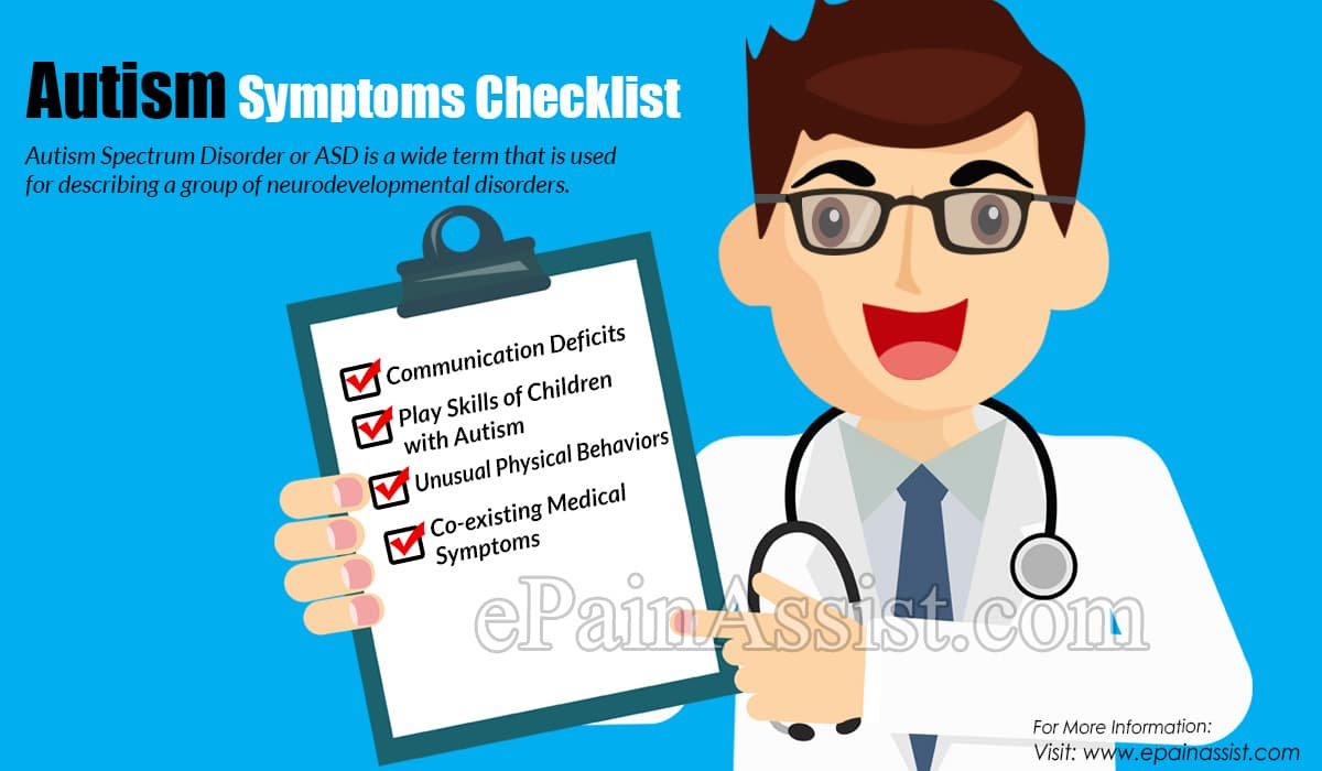 Autism Symptoms Checklist