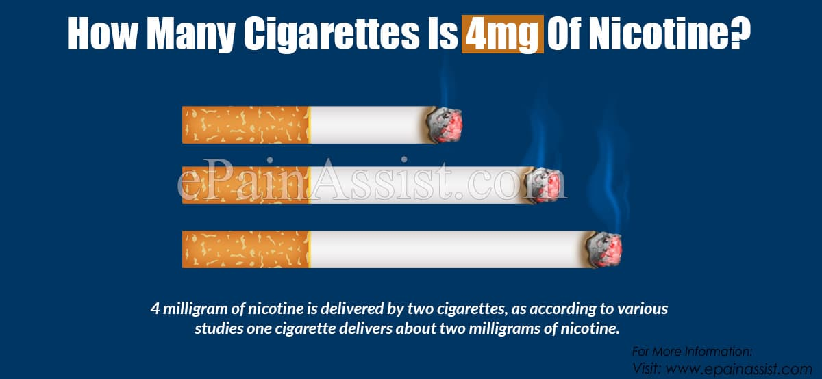 How Many Cigarettes Is 4mg Of Nicotine?